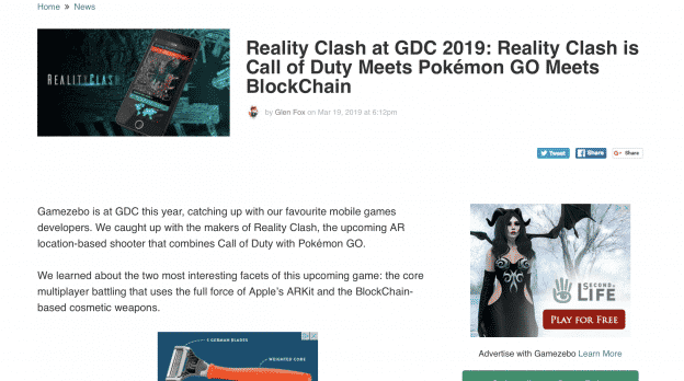 Reality Clash at GDC 2019
