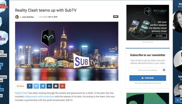 Reality Clash Teams up with SubTV